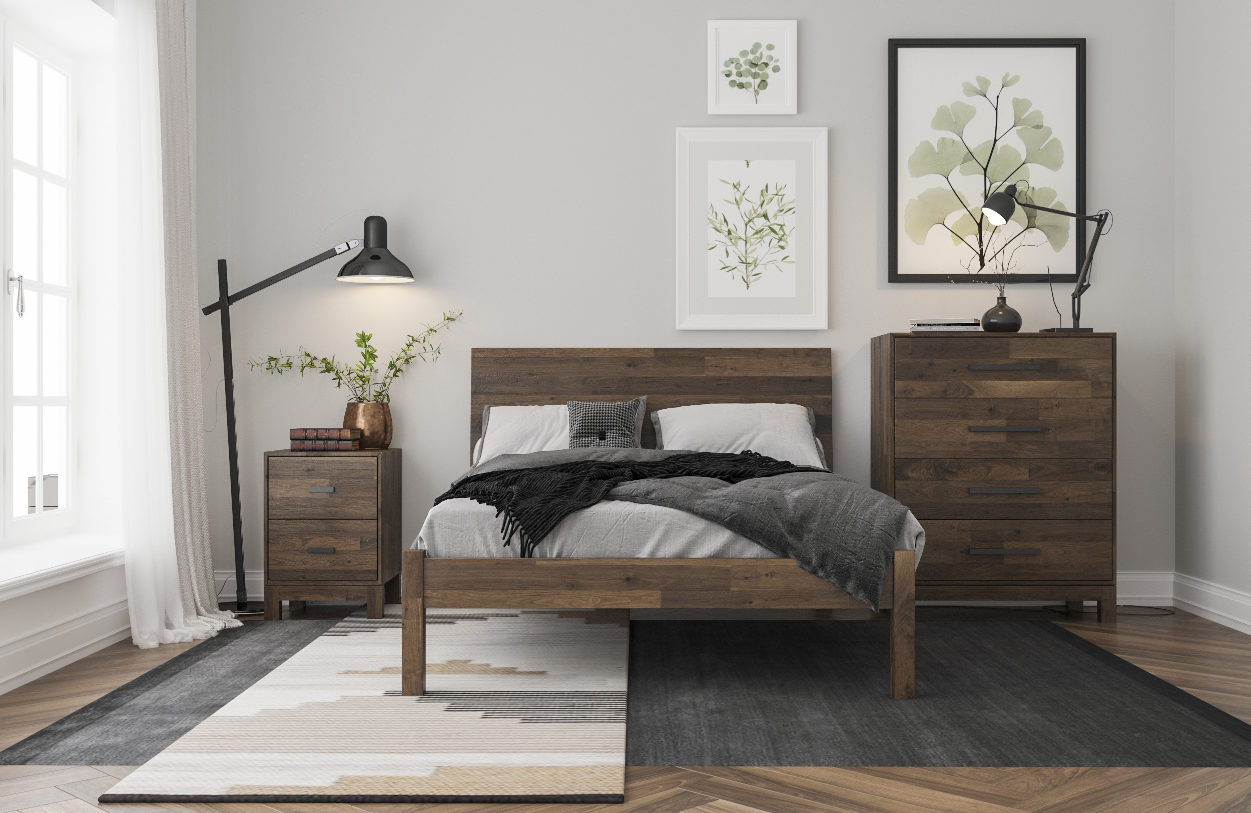 Newton Bedroom Reclaim Walnut